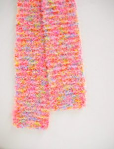 Toddlers Pink Scarf by Stitchknit