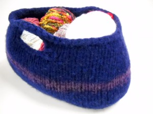 Felted Basket by Stitchknit